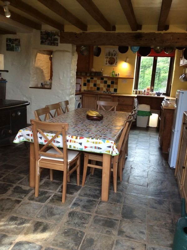 Kitchen in Coolings Barn, Self Catering in East Prawle
