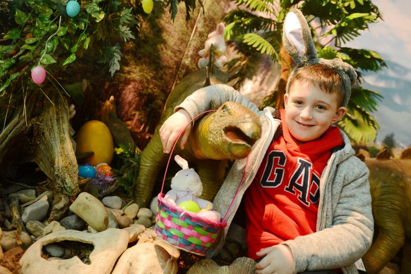 Easter Egg Hunt at Torquay's Dinosaur World