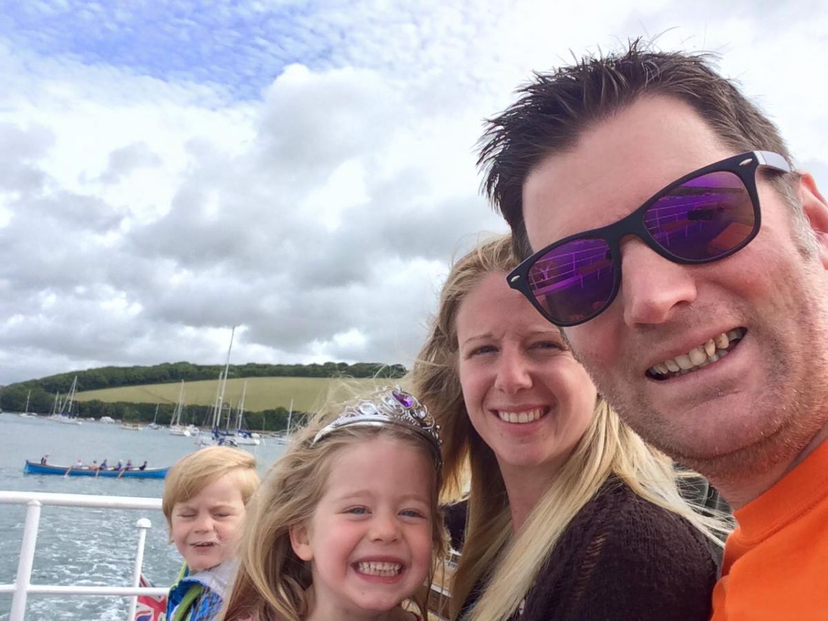Family on the Kingsbridge & Salcombe Rivermaid Ferry