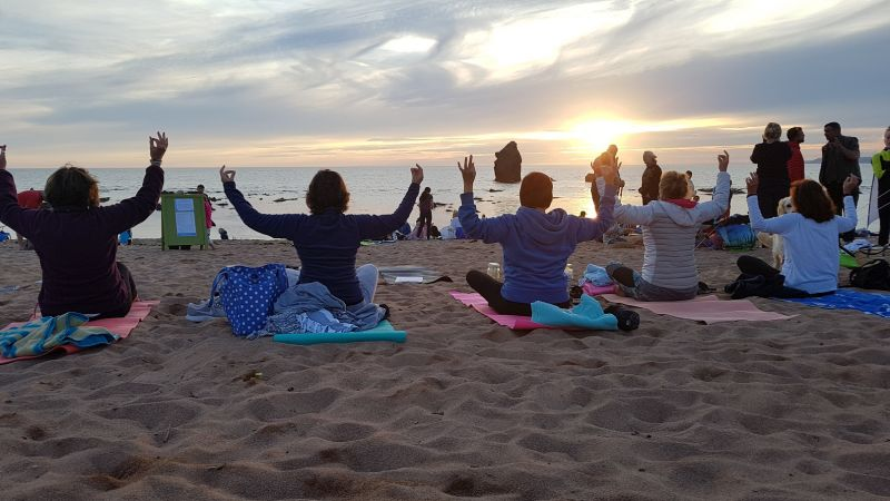 Sunset Beach Yoga with Simply Soulful Yoga