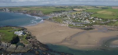 Aerial Shot of Bigbury-on-Sea